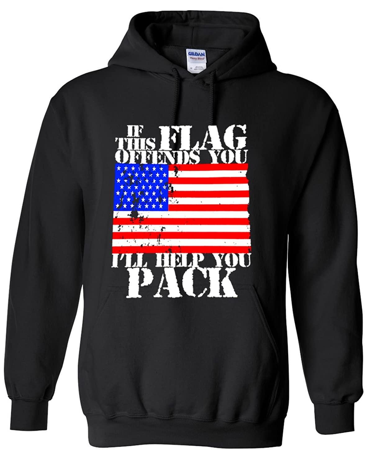 Adult If This Flag Offends You I'll Help You Pack Hoodie Hooded