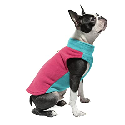 Gooby Small Dog Pullover Fleece Jacket with Leash Ring
