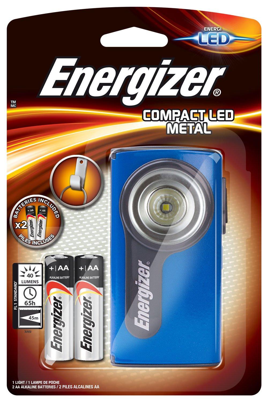 Energizer Linterna Compacta de Bombilla Led Integrado, Negro ENEFLCOMLED3AA