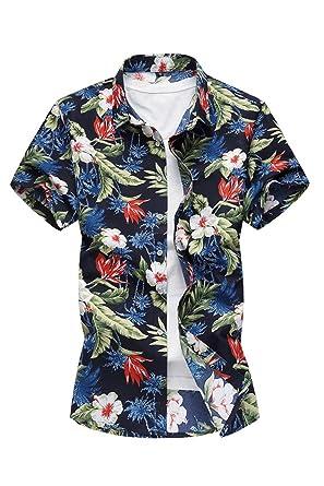 best loved 8433e 06aa1 YACUN Gli Uomo Sono Camicie Hawaiane Camicia A Maniche Corte ...