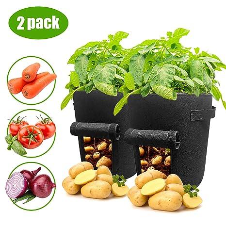 HOMEWINS 3 Piezas Bolsas de Cultivo de Patata, 7 galones ...