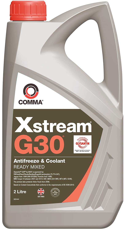 Comma XSM2L Xstream G30 Antifreeze and Coolant, 2 Liters