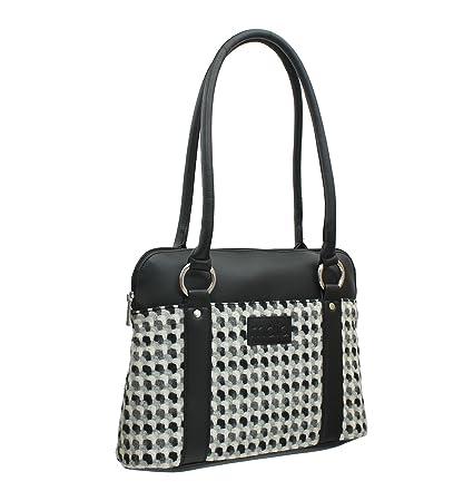 647ec4b8f859 Mala Leather ABERTWEED Collection Leather   Tweed Shoulder Bag 719 40  Black  Amazon.co.uk  Luggage