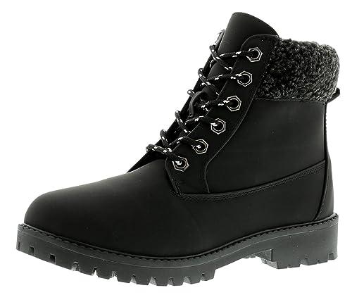 Nuevo Mujer Cordones Botines con con tacos suela Y POLAR Almohadilla - Negro - GB Tallas 3-8 - Negro, 39: Amazon.es: Zapatos y complementos