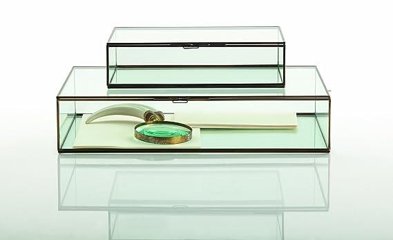 f3238d42e96 Arteriors Fuller Small Glass Document Box  Amazon.co.uk  Kitchen   Home