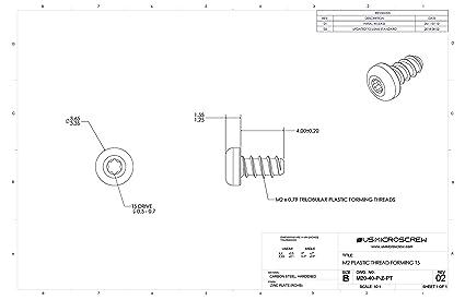 Amazon com : M2 X 4mm Plastic Thread Forming Screw Zinc