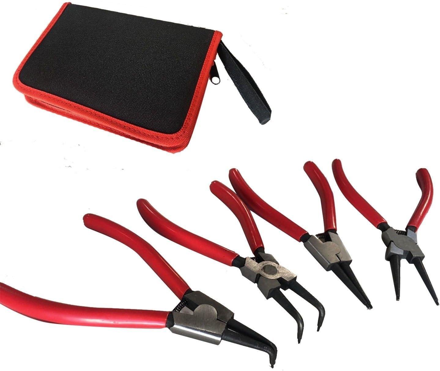 "NEW 4pcs Heavy Duty 7/"" Circlip Plier Snap Ring Plier Kit"