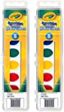 Crayola Watercolor Paints Washable 8 Primary Colors, Pack of 2