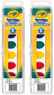 crayola watercolor paints washable 8 primary colors pack of 2