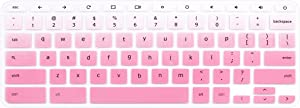 Silicone Keyboard Cover for 2017/2018 Acer Chromebook R11 CB3-131 CB3-132 CB5-132T, Acer Chromebook R 13 CB5-312T, Acer Chromebook 15 CB3-531 CB3-532 CB5-571, Acer Chromebook 14 CB3-431 (Pink Ombre)