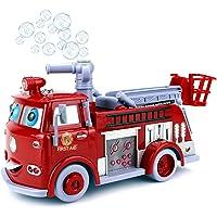 Sajani Fire Rescue Pumper Bubble Blowing Bump Toy Truck Extending Crane