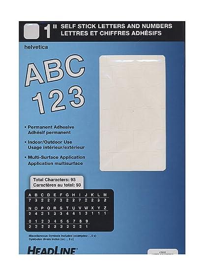 Amazon.com: Ez Letter Stencils White Vinyl Stick On Letters or