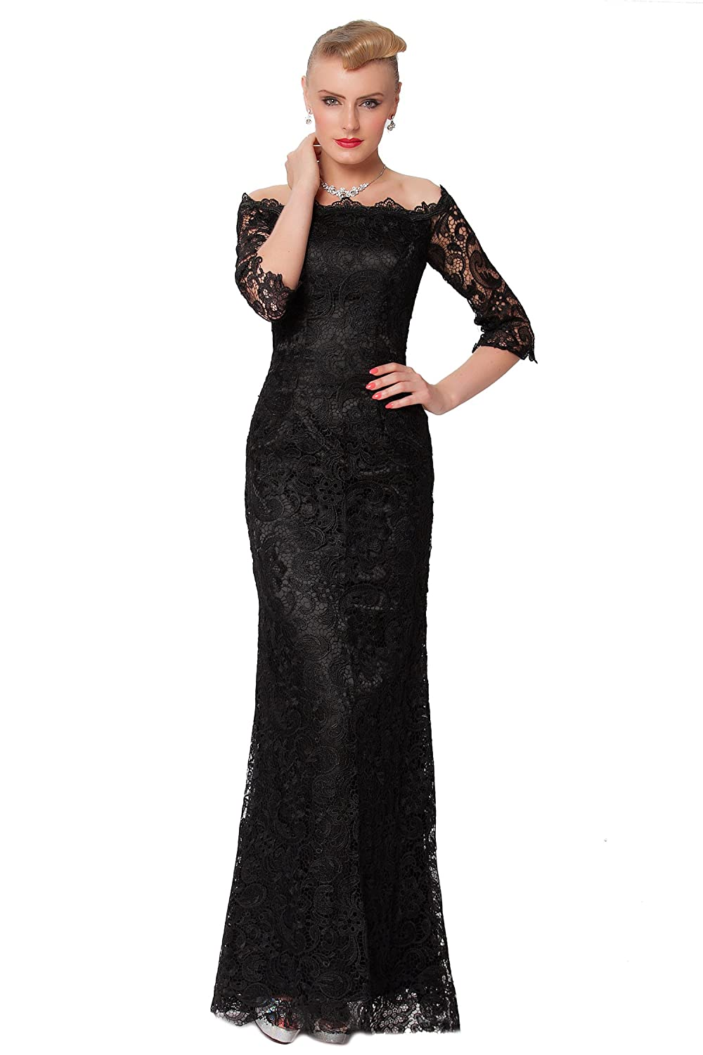 SEXYHER Charming Lace Covered Long Evening Bridesmaid Dress - EDYP8001