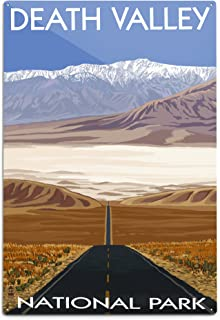 product image for Lantern Press Death Valley National Park, California, Highway View (12x18 Aluminum Wall Sign, Wall Decor Ready to Hang)