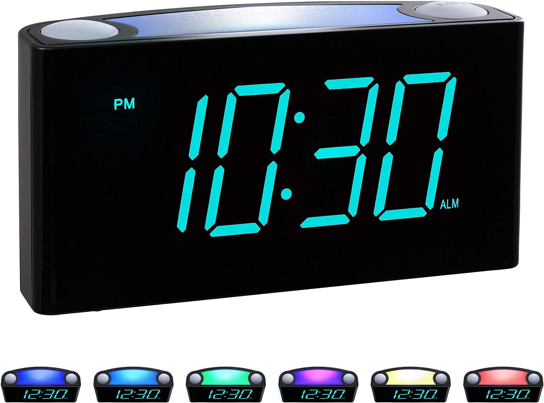 Temp Time//r Digital Alarm Clock Blue Gravity Sensor Multifunctional clock