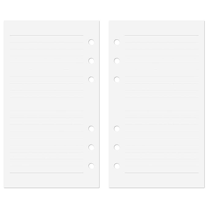 Discagenda - Recambios para agenda con 6 agujeros para anillas de 120 g/m², 36,28 kg
