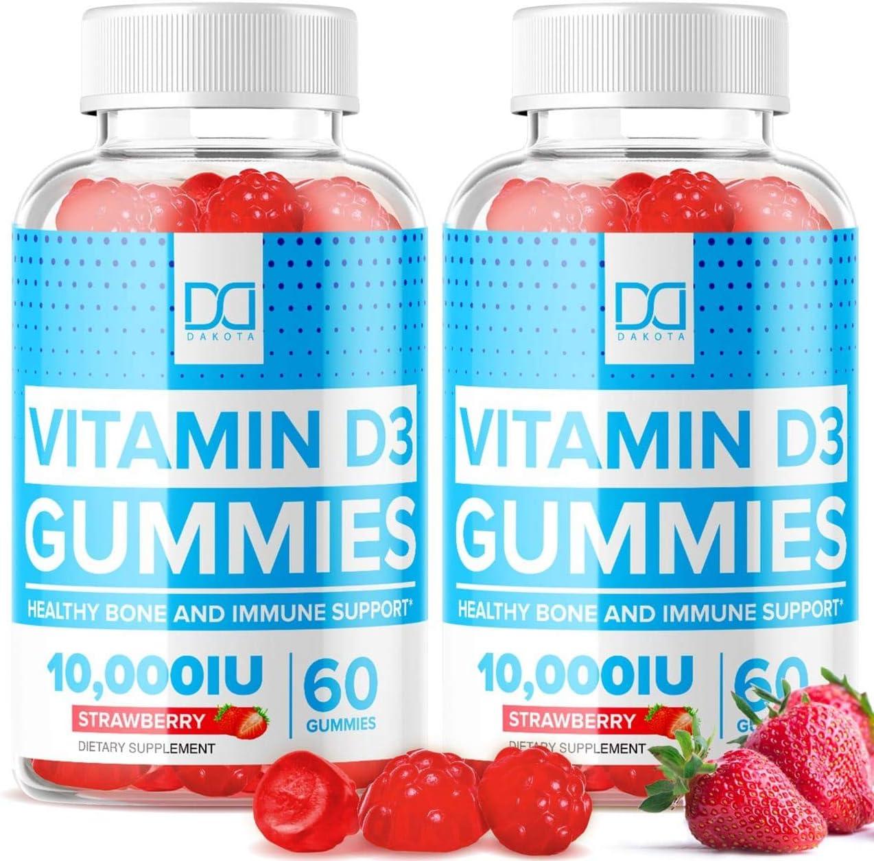 Dakota 10000 IU Gummies 2 Pack Vegan Vitamin D3 $21.20 Coupon