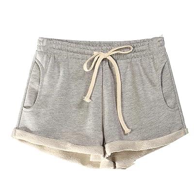 XXBlosom Womens Elastic Waist Sport High Waist Workout Stretch Shorts