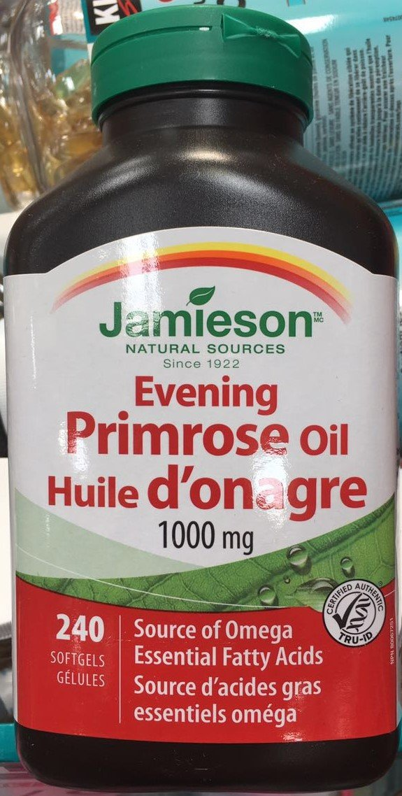 Jamieson Evening Primrose Oil 1000mg, 240 softgels