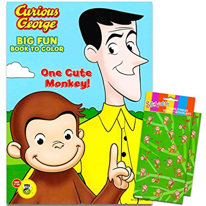 Amazon.com: Curious George Coloring Book with Stickers ~ 96-page ...