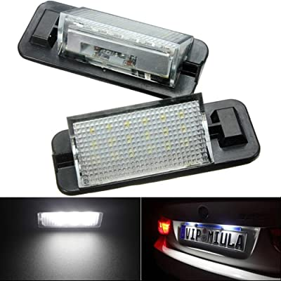 KATUR 1 Pair 12V 18 LEDs Bulb License Number Plate Light Lamps for BMW 3 Series E36 1992-1998 Car Styling LED Car Lamp: Automotive