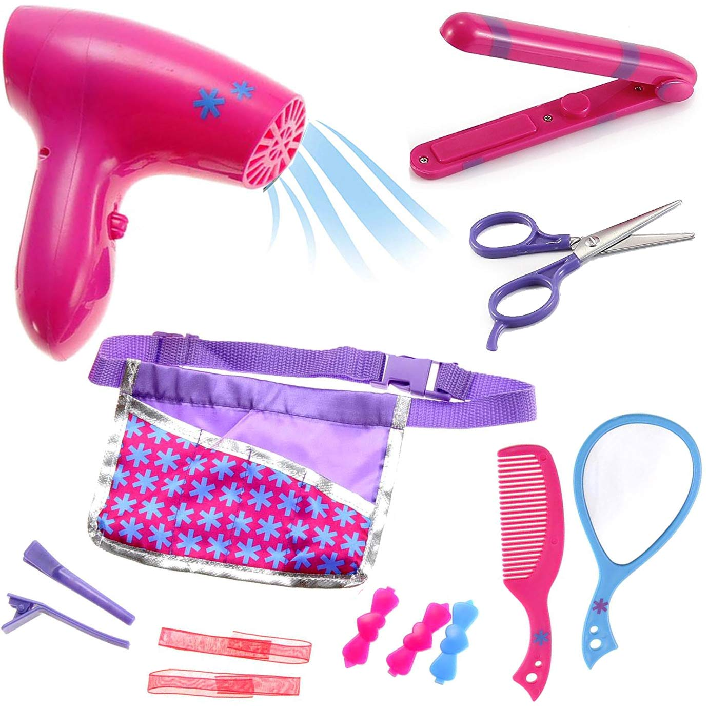 Liberty Imports Beauty Hair Stylist Set - Boutique Beauty Salon Fashion Pretend Play Set for Girls with Toy Blow Dryer, Curler, Scissors, Comb, Mirror & Other Styling Tools by Liberty Imports