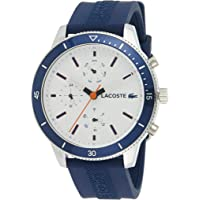 Lacoste Mens Quartz Watch, Chronograph Display and Silicone Strap 2010993