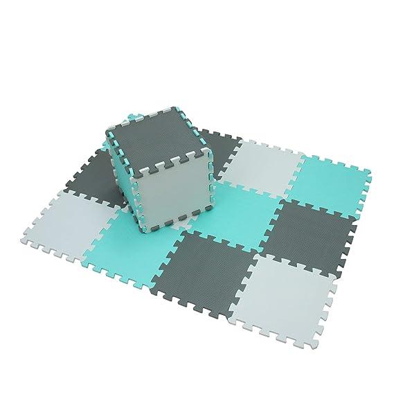 XMTMMD Suelo para Ninos Y Infantiles EVA Puzzle ColchonetaPara Ninos Y Infantiles EVA Puzzle Colchonetas Puzzle Rompecabezas para Cubrir el Suelo 18 ...