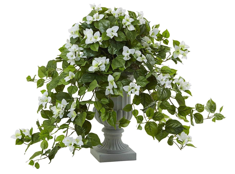造花 – ホワイトブーゲンビレア 装飾用骨つぼ付き人工植物 B07L2MM9CN