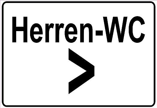 Netspares 138284552 Schild Hinweisschild Hinweis Herren Wc