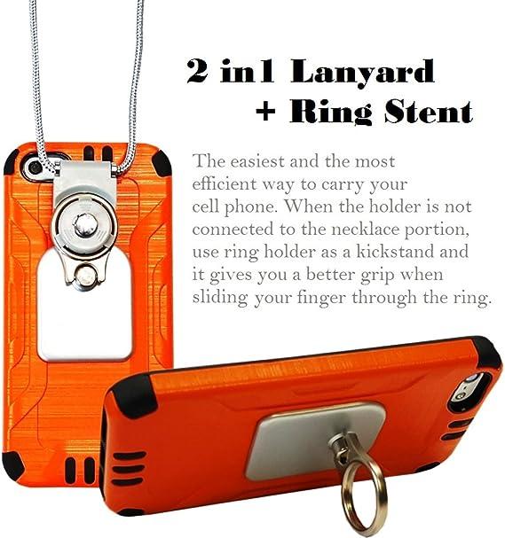 1X Rhinestone Crystal Lanyard Necklace ID Badge Phone Antitheft Holder Keychain