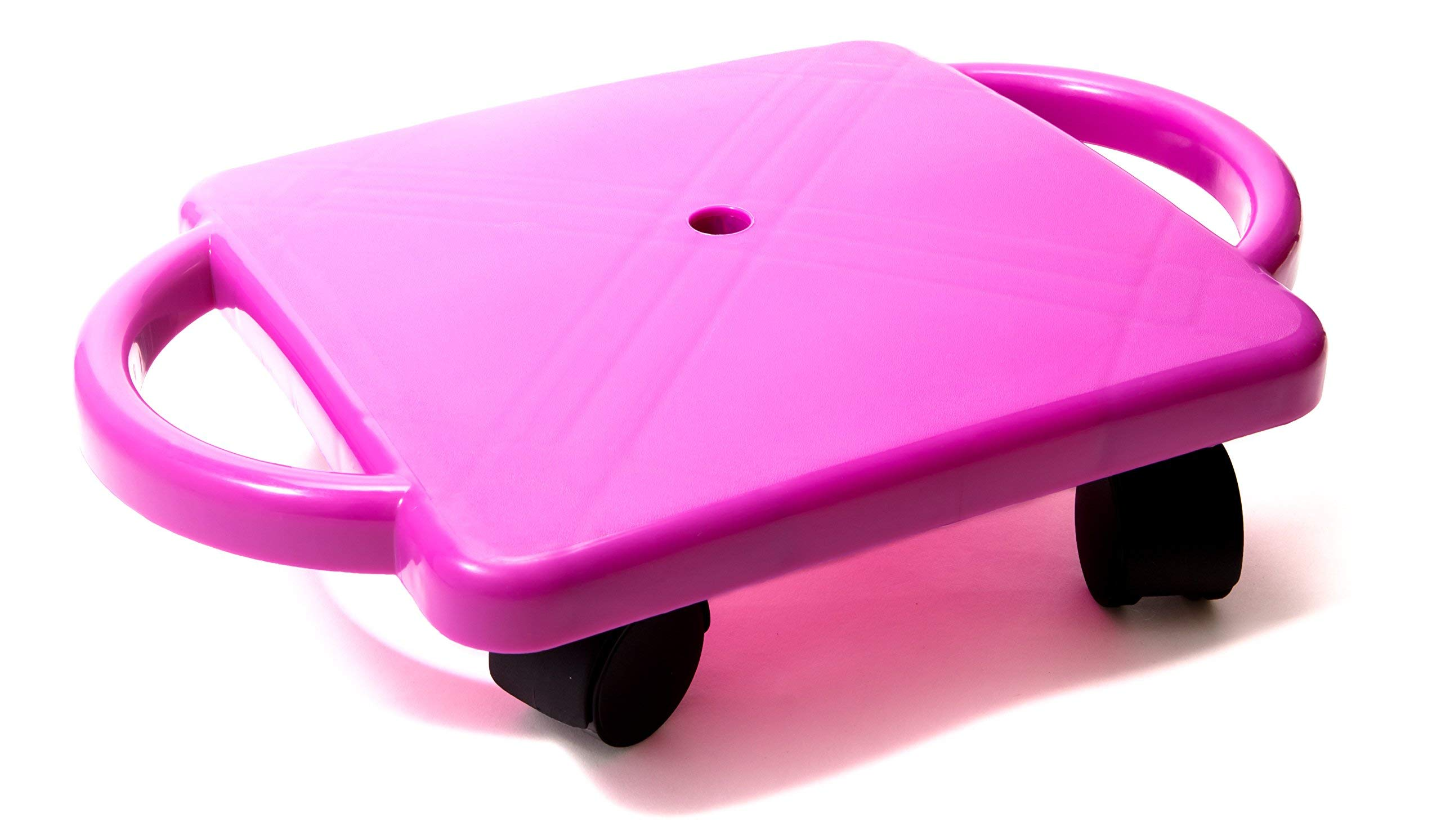 Educational Manual Plastic Scooter Board with Safety Handles | 16'' x 11'' inches| Perfect for Kids, Teens, Adults | PE, Gym Class, Daycare, Preschool Development, Games, Camps (Purple) by SHOT TAKER CO. EST. 2017