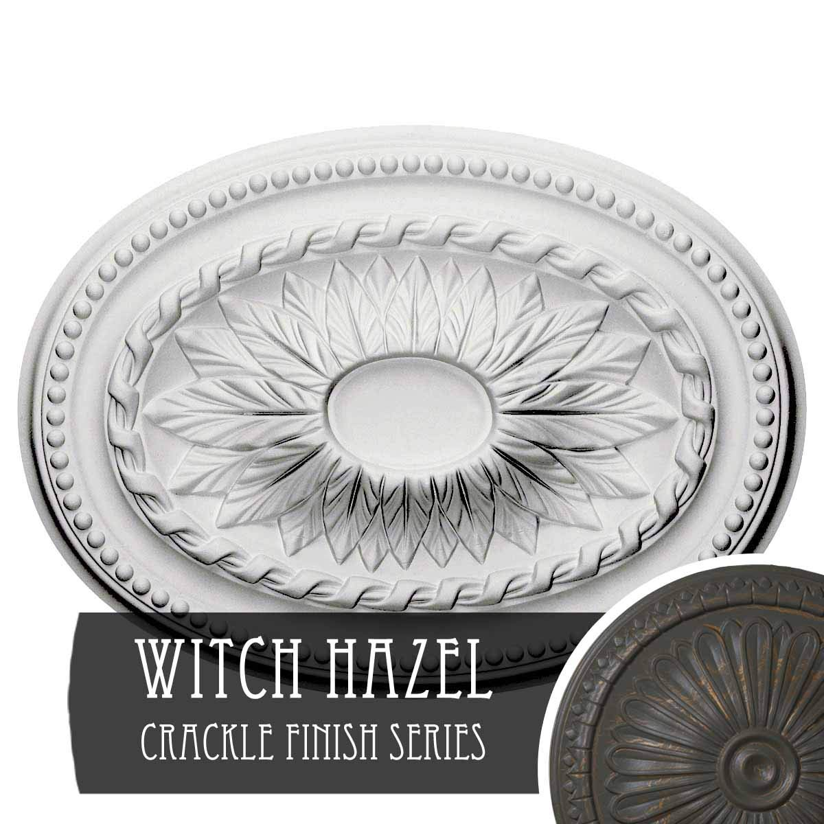 Ekena Millwork CM18SAWHC Saverne Ceiling Medallion, Witch Hazel Crackle