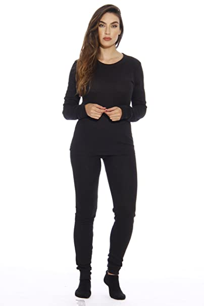 Just Love 95862-Black-XS Women s Thermal Underwear Set Base Layer Thermals 8fdd6bcc3