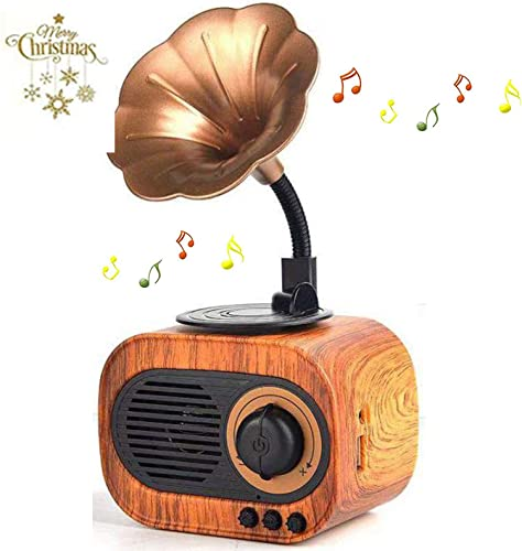 BGJOY Bluetooth Speaker,Portable Wireless Retro Speaker,Louder,Stereo,Longer Playtime,Built-in Mic Compatible