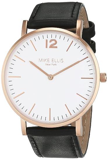 Mike Ellis New York Reloj analógico para Unisex de Cuarzo con Correa en Piel SM4564H3: Amazon.es: Relojes