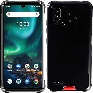 Tznzxm Case for UMIDIGI Bison, UMIDIGI Bison Back Case, Flexible Soft TPU Scratch Resistant Non-Slip Shock Absorption Back Cover Rubber Slim Phone Case for UMIDIGI Bison 6.3 inch Black