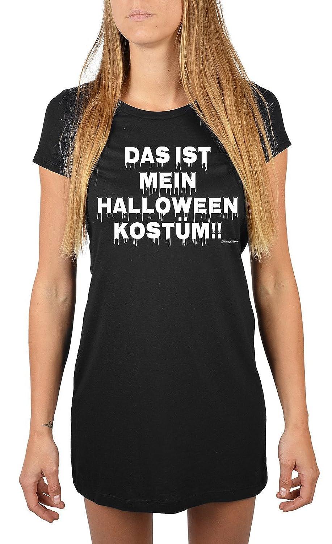 Lang geschnittenes T-Shirt für Frauen Das ist mein Halloween Kostüm!! Mädchen Schlafanzug Pyjama für Jugendliche Geschenkidee Sommerkleid