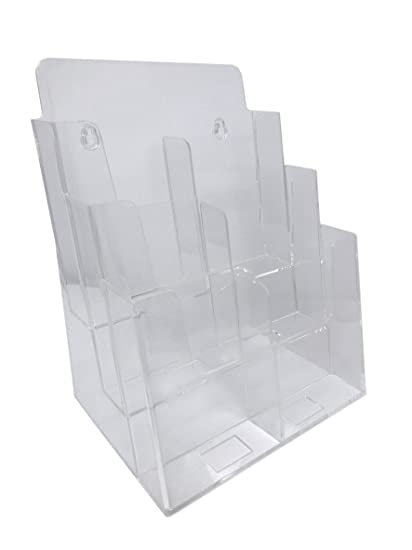 Amazon Dazzling Displays Clear Acrylic 40Tier Brochure Holder Adorable Acrylic Brochure Display Stands