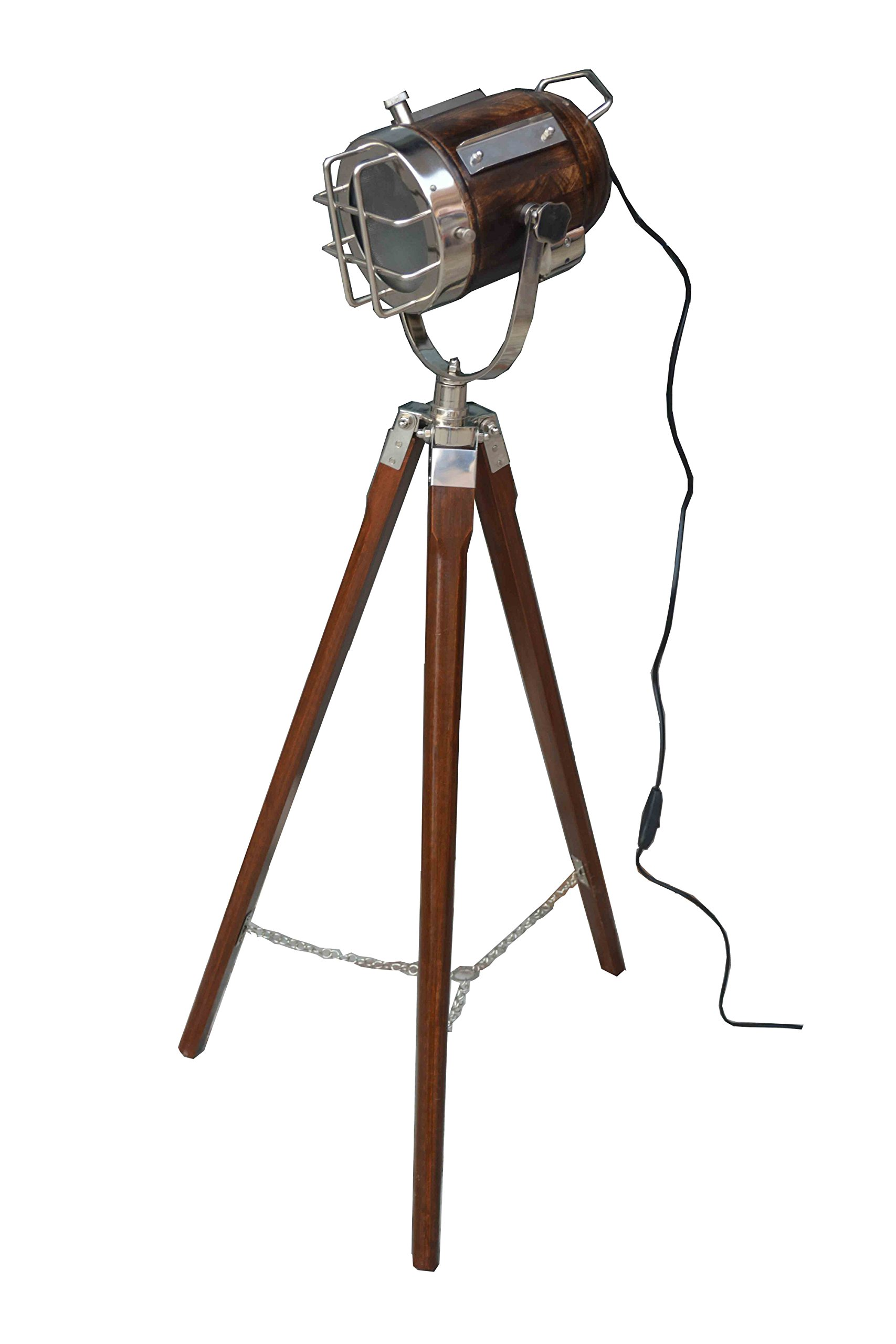 DESIGNER STUDIO FLOOR LAMP TRIPOD SEARCHLIGHT HOME DECOR LIGHT by Nautical India (Image #1)