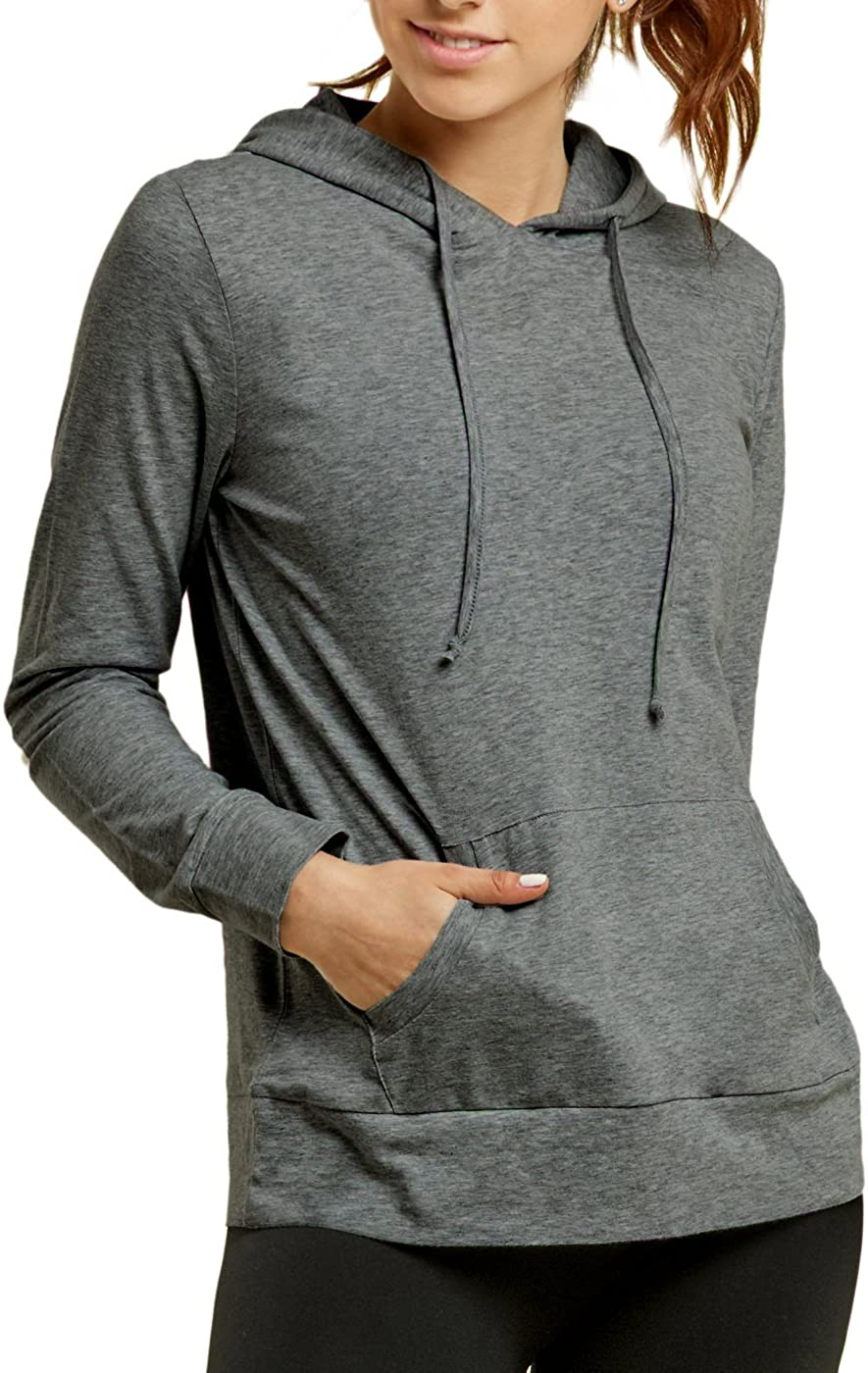 Sofra Womens Thin Cotton Pullover Hoodie Sweater