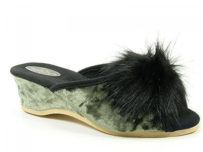 viel rabatt genießen Luxusmode Großhandelsverkauf Helmut Trunte Schuhe Damen Hausschuhe Pantoffeln 15040,  Schuhgröße:35;Farbe:Grün
