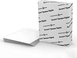"Accent Opaque White 8.5"" x 11"" Cardstock Paper, 80lb, 216gsm – 250 Sheets (1 Ream) – Premium Smooth Heavy Cardstock, Printer Paper for Invitations, Cards, Menus, Business Cards – 131482R"
