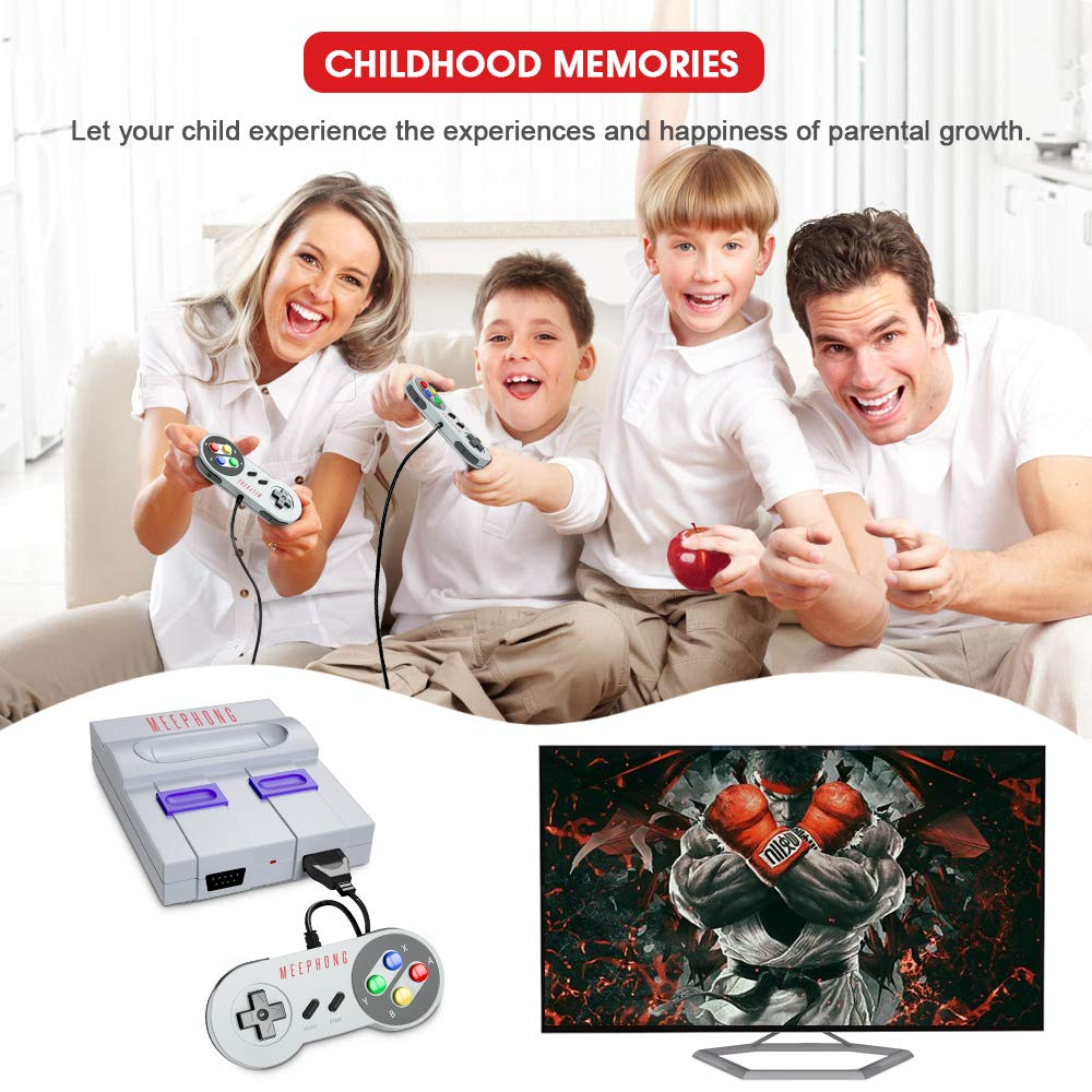 MEEPHONG Retro Game Console, HDMI HD Built-in 821 Classic Video Games by MEEPHONG (Image #4)