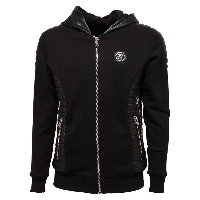 incontrare 44b42 252b0 7605O giacca PHILIPP PLEIN nero giubbotto uomo jacket men [L ...