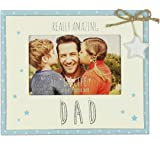 """Dad Gift Photo Frame With Wood Finish 6/"""" x 4/"""" FP145D"""