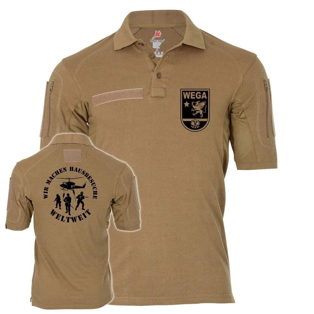 Copytec Tactical Poloshirt Alfa WEGA Wir Machen Hausbesuche Weltweit Sondereinheit 19146