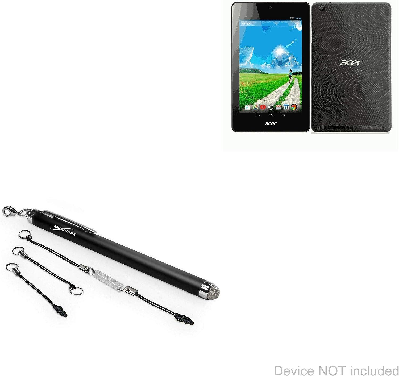 Acer Iconia One 7 B1-730HD Stylus Pen, BoxWave [EverTouch Capacitive Stylus] Fiber Tip Capacitive Stylus Pen for Acer Iconia One 7 B1-730HD - Jet Black