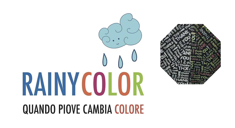 BLUE DROP Paraguas Mujer Automático Cambia de Color: Amazon.es: Hogar