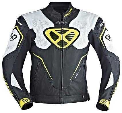 Ixon – Chaqueta Moto – Ixon Orcus, Color Negro/Blanco/Amarillo – L